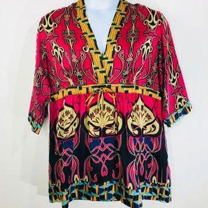 Cabi Multi Color Tunic Dress Size XL